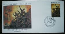COVER 1945 COVER OKINAWA INVADEDBY US FORCES WWII - MARSHALL ISLAND