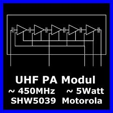 (2 x) UHF Power Modul NLE9474A  450MHz  5Watt  MOTOROLA Gold