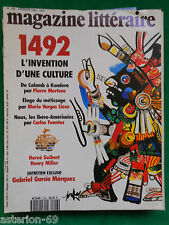 1492 L'INVENTION D'UNE CULTURE : MAGAZINE LITTERAIRE 296 FEV 1992