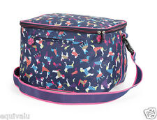 NEW Shires Dog Print Riding Hat Helmet Spacious Storage Bag With Strap  FREE P&P