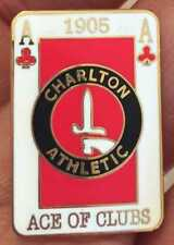 CHARLTON ATHLETIC ACE OF CLUBS ENAMEL PIN BADGE