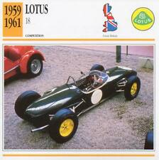 1959-1961 LOTUS 18 Racing Classic Car Photo/Info Maxi Card