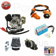 20mm 139 QMB GY6 50cc Carburetor Intake Manifold Boot Air Filter CDI Coil  Kit