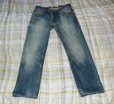 GENUINE LEVI`s 505 STRAIGHT BLUE DENIM JEANS , W34 L31 PLEASE READ SIZING INFO !