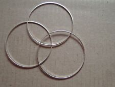 10 - CLOSED JUMP RINGS 40mm SILVER PLATED  SUPERB QUALITY
