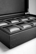 Caja relojero para 8 relojes en madera lacada - Alta relojería