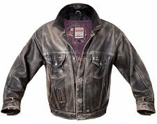 BIG STAR leather jacket coat OLD AMERICA vintage L FLYING aviator like OCHNIK
