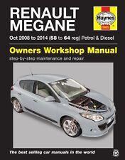 Renault Megane Petrol & Diesel Oct 2008 - 2014 Haynes Manual 5955 NEW