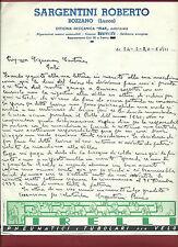 Lettere Manoscritte Riparazione Autovettura Fiat Sergentini Roberto Bozzano 1940