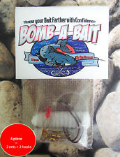 Catfish, 4 Piece Bait Holder~  BOMB-A-BAIT™ (Catch More Fish!)