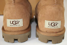 NIB UGG Size 8 Womens Chestnut 100% Suede Shearling Lined ESSENTIALS TALL Boot