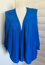 Catherines 3X Blue Lightweight Flyaway Batwing Open Front Cardigan Sweater Shrug