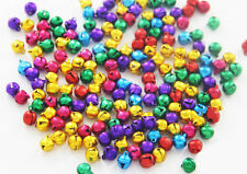 50pcs 10mm 12mm 14mm Silver Gold Colorful Jingle Bells Loose Beads Charms Crafts