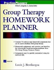 Group Therapy Homework Planner (Book with Diskette), Louis J. Bevilacqua, Good B
