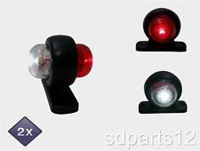 2x 12V LED BLANC ET ROUGE MINI FEUX DE GABARIT SIGNALISATION CAMION CARAVANE BUS