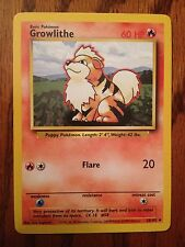 Pokemon Growlithe Card 28/102 NM/MINT Basic Pokemon Base Set Uncommon Rare