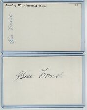 (2) BILLY CONSOLO INDEX CARD SIGNED 1953-62 RED SOX TWINS PSA/DNA CERT 1934-2008