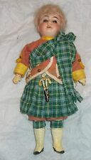 ADORABLE TINY 8 INCH GEBRUDER KUHNLENZ BISQUE HEAD BOY IN BEAUTIFUL CONDITION
