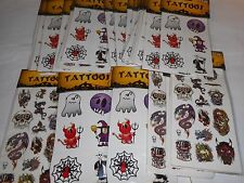 LOT OF 30 PACKS OF HALLOWEEN TEMPORARY TATTOOS NEW IN PACKAGE