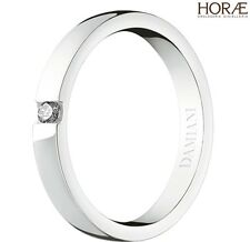 Anello fede donna solitario Damiani Veramore oro bianco diamante wedding ring
