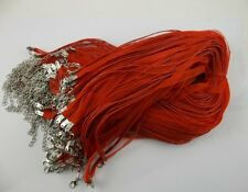wholesale 50pcs red Organza Ribbon Necklace Silk Cord Clasp 430mm