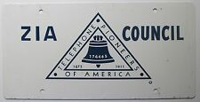 New York 1970's TELEPHONE PIONEERS OF AMERICA ZIA COUNCIL BOOSTER License Plate