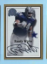 RANDY WHITE 2000 FLEER GREATS OF THE GAME GOLD BORDER SIGNATURE AUTOGRAPH AUTO
