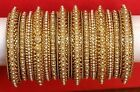 Ethnic Gold Pearl Bangle Bracelet Kada Indian Bollywood Bridal Jewelry Size 2.4