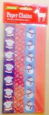BNIP New Christmas Paper Chain Set - 120 Links - 102 x 210mm - Red & Blue