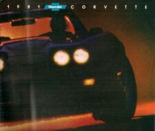 CHEVROLET CORVETTE 1981 USA MARKET FOLDOUT SALES BROCHURE