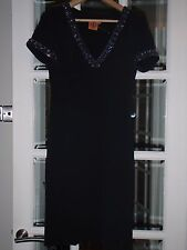 Brand New Tory Burch ULIMA Dress in black with rhinestones. US Size 4, UK 8.