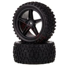 2x 1/10 HSP Off-road Buggy 06024 Rear Wheel Rim Tyre,Tires Insert Sponge 66025