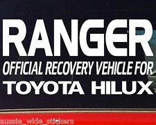 200mm 4x4 dual cab ute canopy Funny Stickers RANGER OFFICIAL RECOVERY