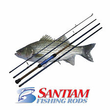 "SANTIAM FISHING RODS 4 PC 10'0"" 12-25LB SURF SPINNING ROD ALASKAN TRAVEL SERIES"