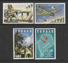 Tuvalu 1993 50th aniversario de guerra en el Pacífico Um/estampillada sin montar o nunca montada SG 668/671