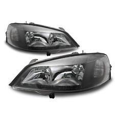 2 JOM Front Scheinwerfer Opel Astra G Cabrio Caravan CC Kasten klarglas schwarz