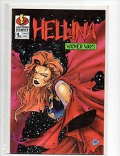 HELLINA WICKED WAYS #1B  COMMEMORATIVE EDITION  C.O.A.     NM