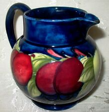 Moorcroft Pottery - Wisteria Plum Design Pitcher / Jug Signed by William in Blue