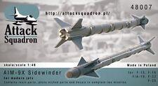 Attack Squadron 1/48 AIM-9X Sidewinder (2pcs) # 48007