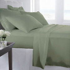 1000 Thread Count 100% Egyptian Cotton Bed Sheet Set 1000 TC TWIN Sage Solid