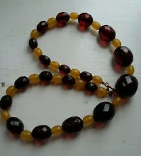 Cherry & Butterscotch in bachelite ART DECO Perlina Collana. Simichrome testato ridotto