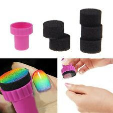 5pcs Magic Nail Art Sponge Gradual Change Stamper Polish Stamping Manicure Tool