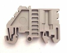DIN Rail Terminal Block End Brackets 40 Quantity SS2 Dinkle Screw Beige Color