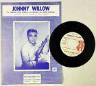 FRED DARIAN 45 Johnny Willow JAF LABEL Popcorn DOO WOP Promo & SHEET MUSIC #C959