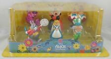 Disney Store Alice In Wonderland PC PVC Figurine Playset Cake Topper Figure Set