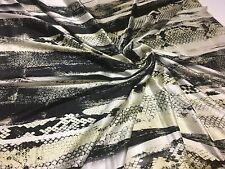 ROBERTO CAVALLI 100% SILK SATIN FABRIC, MADE IN ITALY CM 144 x 141