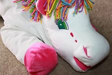 RARE HUGE Lisa Frank Markie 32 Inch Large Stuffed Plush Bean Bag Unicorn VINTAGE