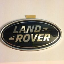 LAND ROVER GENUINE OVAL REAR DOOR TAILGATE BOOT BADGE GREEN & SILVER LATEST