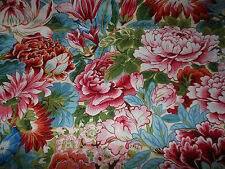 #63 Kaffe Fassett/Philip Jacobs Blue Floral Lavina Fabric Fat Quarter Crafting
