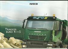 IVECO TRAKKER EURO 4  &  5 LORRY TRUCKS 2006 SALES BROCHURE